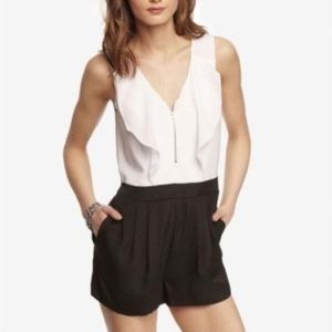 Express black and white romper